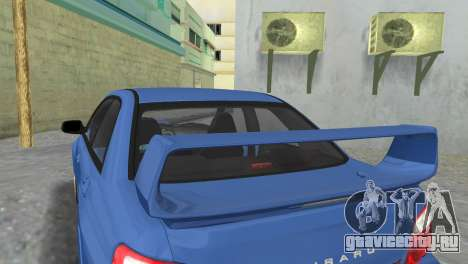 Subaru Impreza WRX STI 2005 для GTA Vice City вид сзади