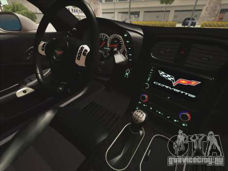 Chevrolet Corvette Grand Sport для GTA San Andreas вид сбоку