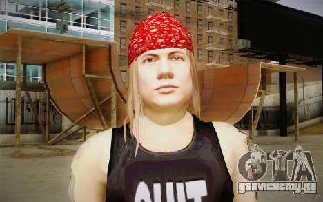 Axl Rose Skin v2 для GTA San Andreas третий скриншот