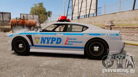 GTA V Bravado Buffalo NYPD для GTA 4 вид слева