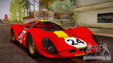 Ferrari 330 P4 1967 HQLM для GTA San Andreas вид изнутри