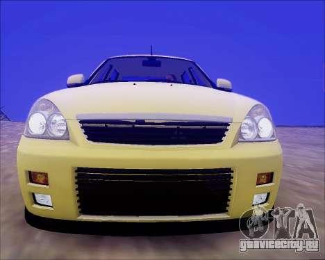 Lada 2170 Priora Tuneable для GTA San Andreas колёса