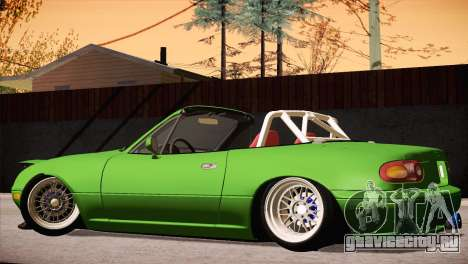 Mazda Miata Hellaflush для GTA San Andreas вид изнутри