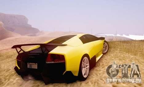 Lamborghini Murcielago LP670-4 SV для GTA San Andreas вид изнутри