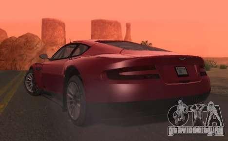 Aston Martin DBR9 для GTA San Andreas вид сзади