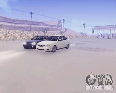 Lada 2170 Priora Tuneable для GTA San Andreas вид изнутри