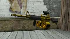 Golden M4 с магазином для GTA San Andreas