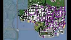 Tags Map Mod v1.0 для GTA San Andreas