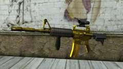 Золотая M4 с прицелом