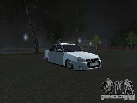 Ваз 2170 Pnevmogorsk для GTA San Andreas вид слева