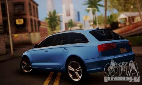 Audi S6 Avant 2014 для GTA San Andreas вид слева