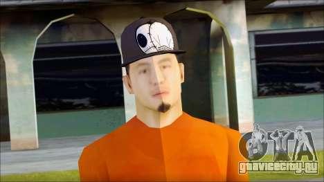 Polera Naranja con Gorro для GTA San Andreas третий скриншот
