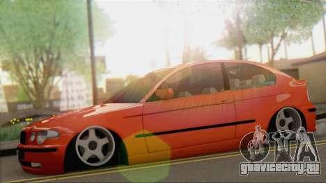 BMW 316i Compact для GTA San Andreas вид сзади слева