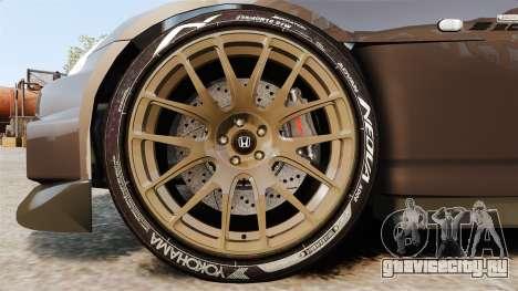 Honda S2000 для GTA 4 вид сзади