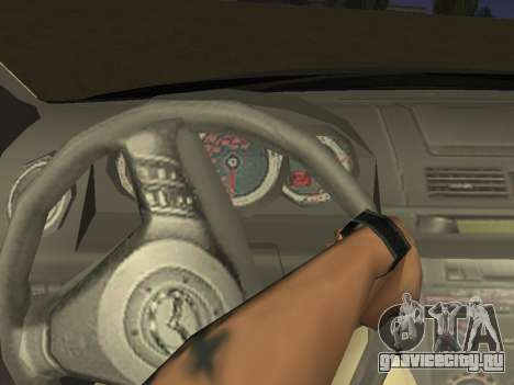 Mazda 3 v2 для GTA San Andreas вид изнутри