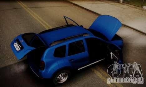 Lada Duster для GTA San Andreas вид снизу