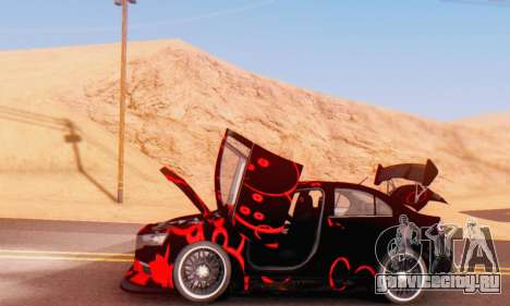 Mitsubishi Lancer EVO X Abstraction для GTA San Andreas вид сзади