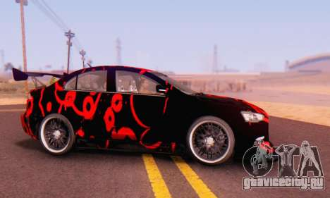 Mitsubishi Lancer EVO X Abstraction для GTA San Andreas вид слева