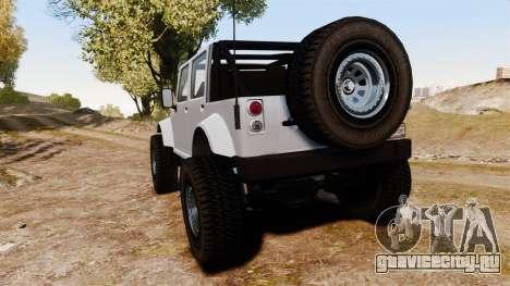 Merryweather Mesa для GTA 4 вид сзади слева