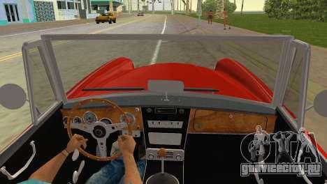 Austin-Healey 3000 Mk III для GTA Vice City вид сзади слева