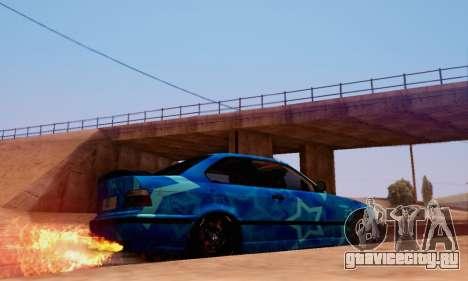 BMW M3 E36 Coupe Blue Star для GTA San Andreas