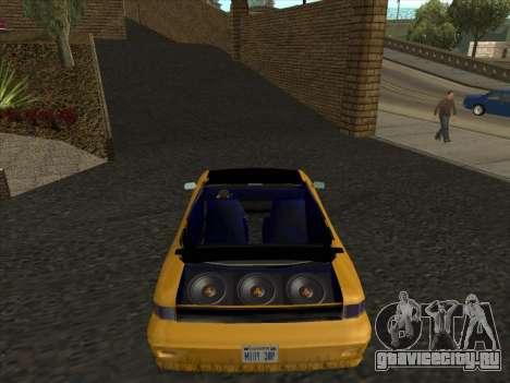 Alpha HD Cabrio для GTA San Andreas вид сзади слева