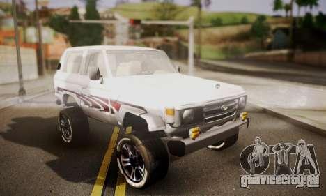 Toyota Land Cruiser LC 70 для GTA San Andreas