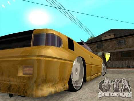 Alpha HD Cabrio для GTA San Andreas вид сбоку