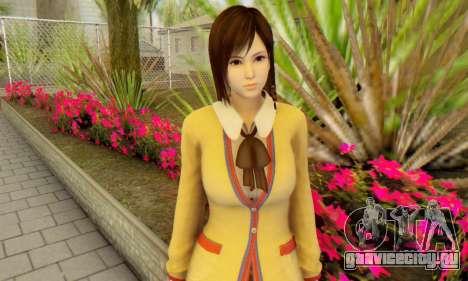 Kokoro wearing a school uniform (DOA5) для GTA San Andreas третий скриншот