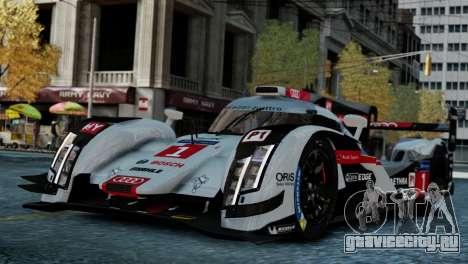 Audi R18 E-tron Quattro для GTA 4 вид сзади слева