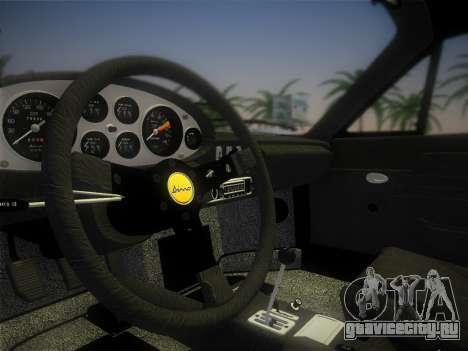 Ferrari 246 Dino GTS 1972 для GTA Vice City вид сбоку