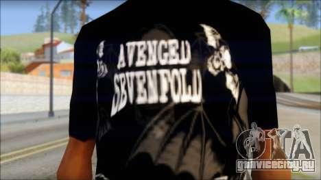 A7X Deathbats Fan T-Shirt Black для GTA San Andreas третий скриншот