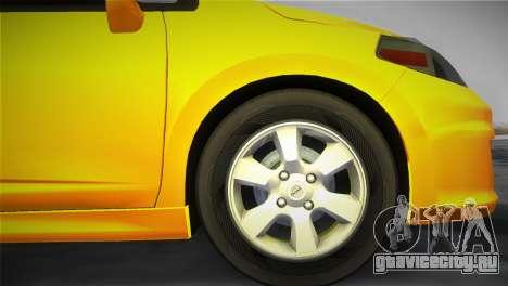 Nissan Versa для GTA Vice City вид сзади слева