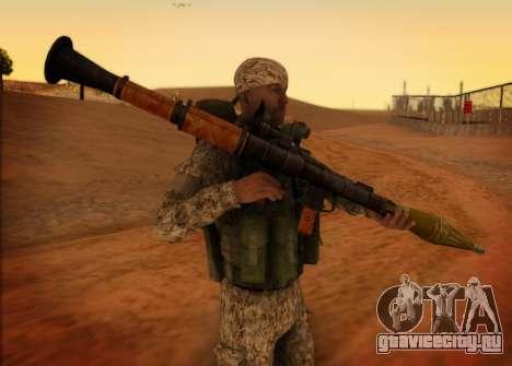САР. Гранатометчик КСОР для GTA San Andreas второй скриншот