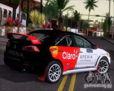 Mitsubushi Lancer Evolution Rally Team Claro для GTA San Andreas