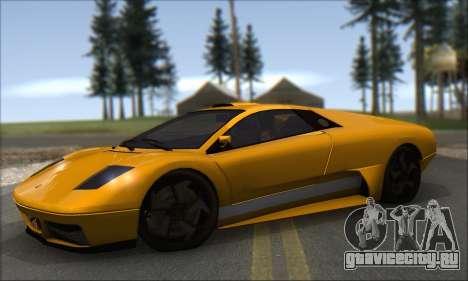 Pegassi Infernus для GTA San Andreas вид сзади слева