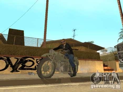 Урал М72 для GTA San Andreas вид сзади