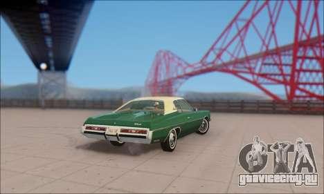 Chevrolet Impala 1972 для GTA San Andreas вид сзади слева