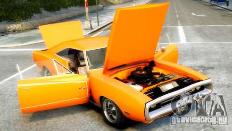 Dodge Charger RT 1970 для GTA 4 вид справа