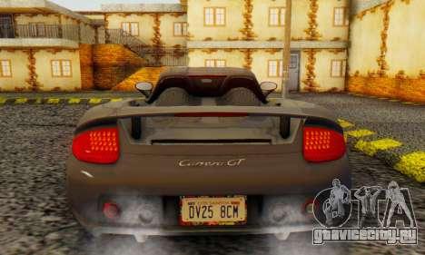 Porsche Carrera GT 2005 для GTA San Andreas вид справа