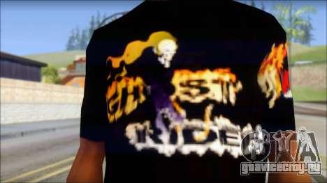 Ghost Rider T-Shirt для GTA San Andreas третий скриншот