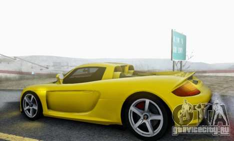 Porsche Carrera GT 2005 для GTA San Andreas вид сверху