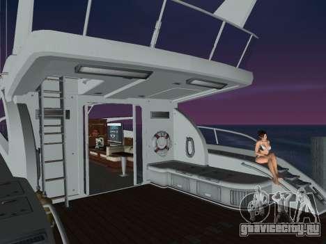 Яхта для GTA Vice City вид сзади слева