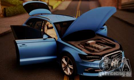 Audi S6 Avant 2014 для GTA San Andreas вид справа