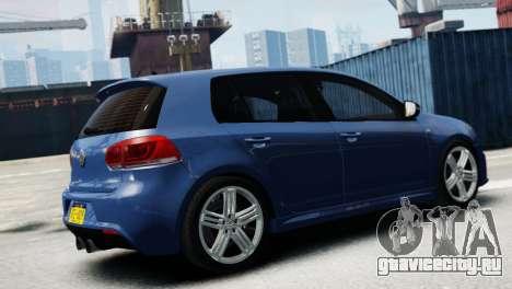 Volkswagen Golf R 2010 для GTA 4 вид слева