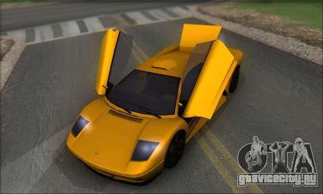 Pegassi Infernus для GTA San Andreas вид сбоку