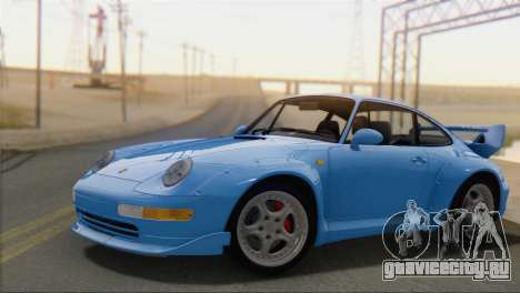 Porsche 911 GT2 (993) 1995 V1.0 SA Plate для GTA San Andreas