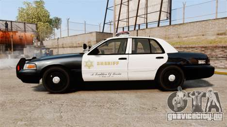 Ford Crown Victoria Sheriff [ELS] Marked для GTA 4 вид слева