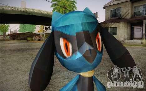 Riolu from Pokemon для GTA San Andreas третий скриншот