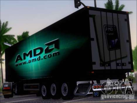 Прицеп AMD Phenom X4 для GTA San Andreas вид сзади слева